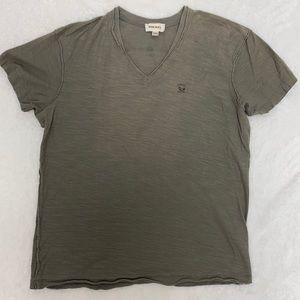 GUC Diesel Army Green Raw Hem distressed teeshirt